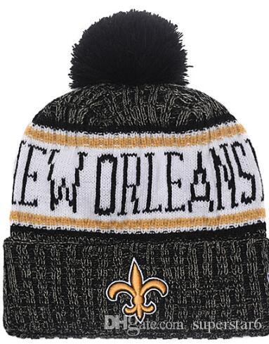 Top Selling Saints Beanie NO Beanies Sideline Cold Weather Reverse Sport  Cuffed Knit Hat With Pom Winer Skull Caps 00 Teal Tie Peach Tie From  Superstar6 361aa307e3d