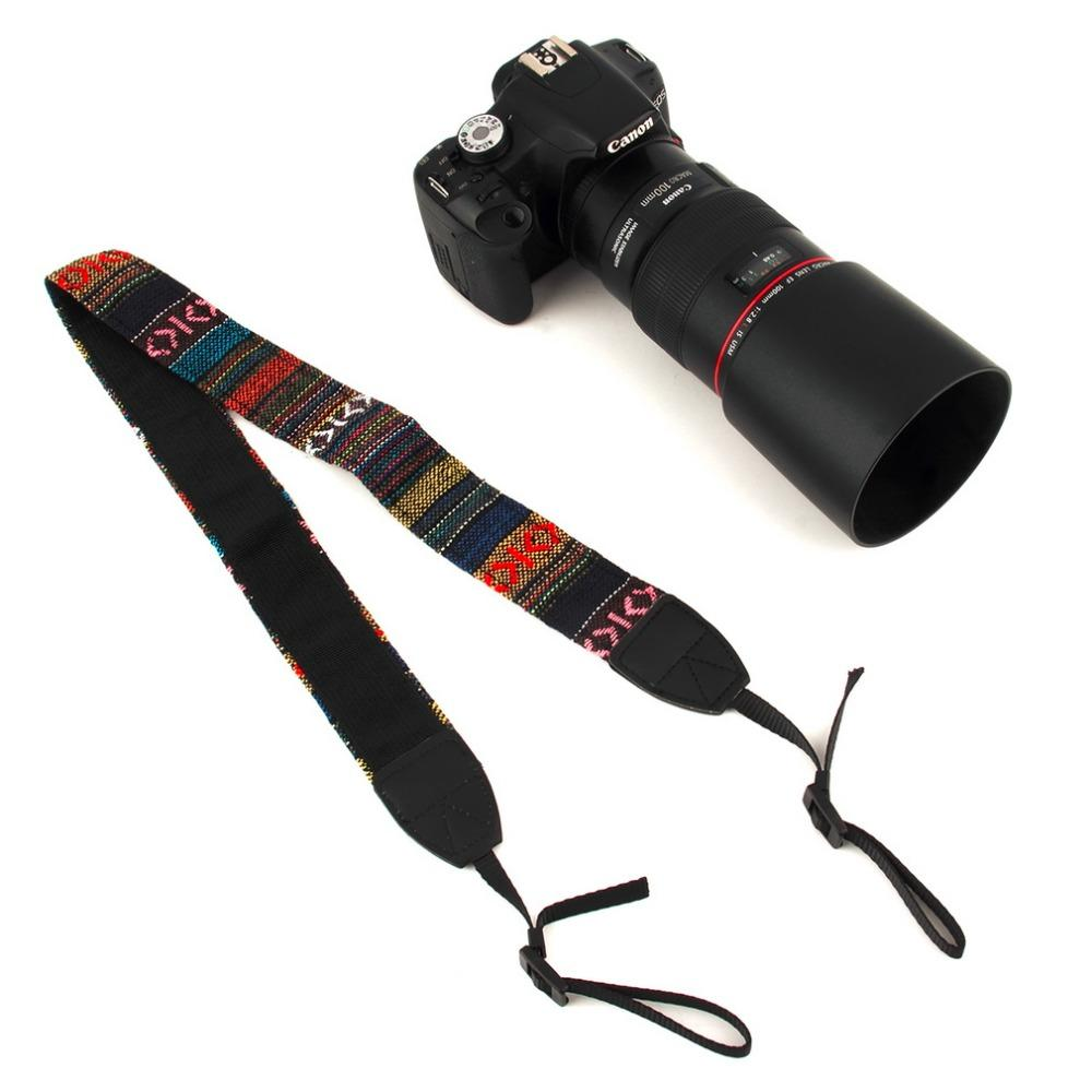 Accessories Parts Strap Straps Vintage Hippie Style Canvas Shoulder Caden Quick Rapid Camera Sling Kamera Neck Durable Cotton For Nikon Pentax Sony Canon Dslr Overstock Electronics