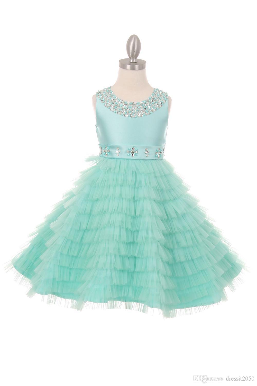 Vestidos de fiesta verde y rosa