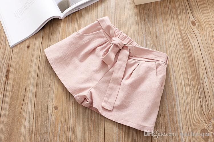 Sweet Kids Girls pizzo Cotton Tops e Shorts Sets Candy Pink Giallo e verde Abbigliamento moda estate