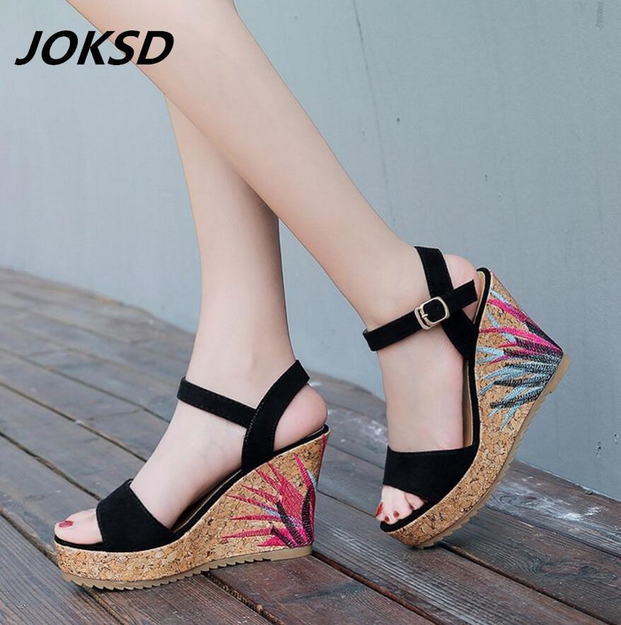 Wholesale New Ladies Shoes Women Sandals Summer Open Toe Fish Head Fashion  Platform High Heels Wedge Sandals Female Shoes Women L61 Birkenstock Sandals  ... f8419384d29d