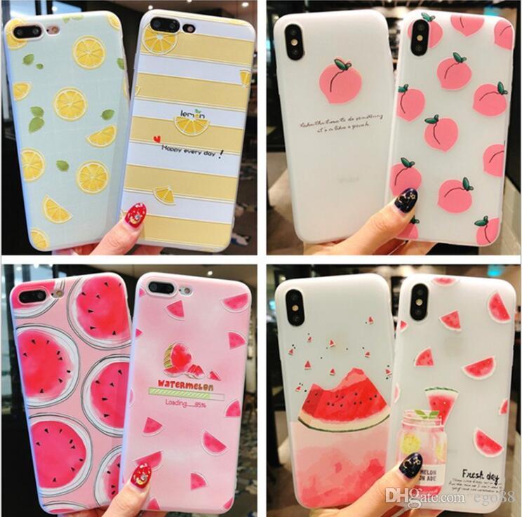 Satın Al şeffaf 3d Meyve Boyama Cep Telefonu Kılıfı Için Iphone X