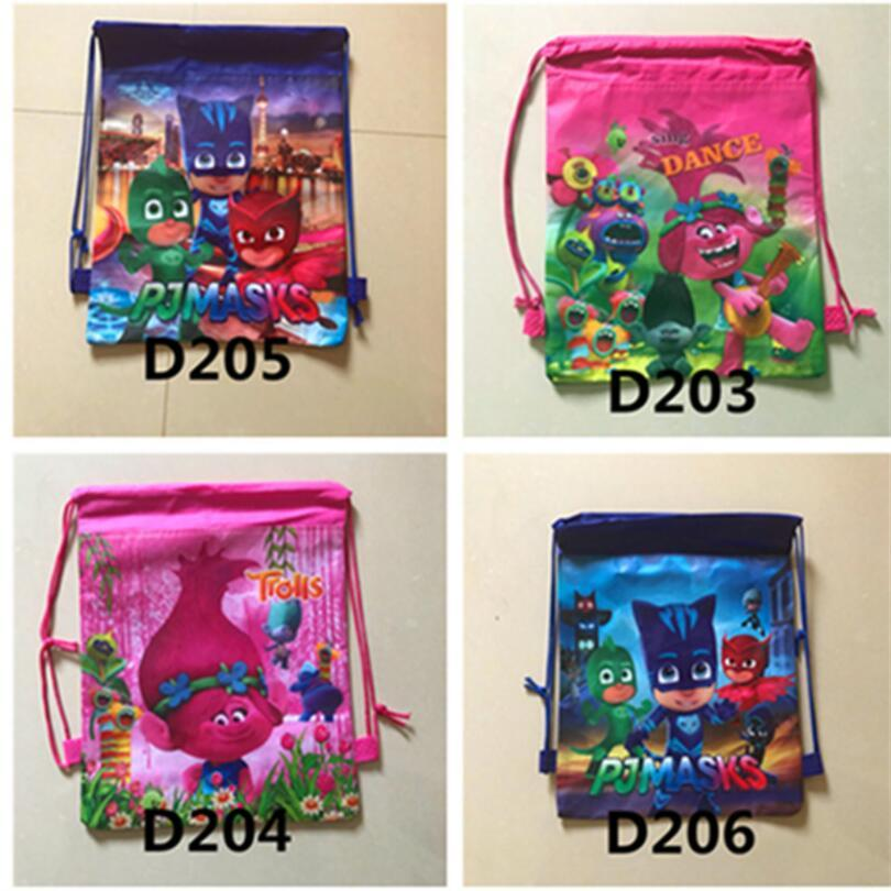 1pcs Trolls Drawstring Backpack Non-Woven Fabric Bag Gift Bag Kid Boy Birthday Cartoon Theme Party supplies Decoration