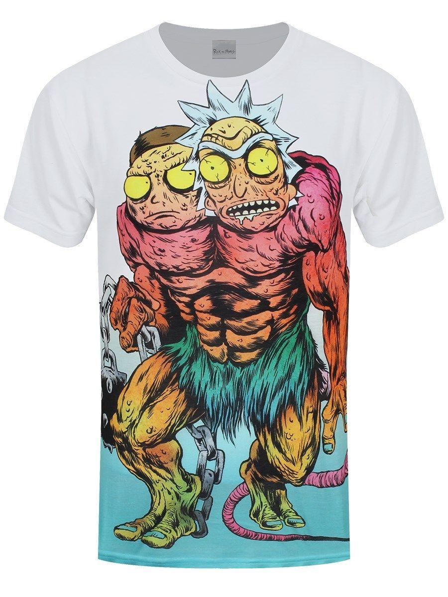 Rick And Morty Monster Sublimation All Over Print Mens White T