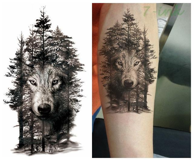 Tattoo wald hintergrund