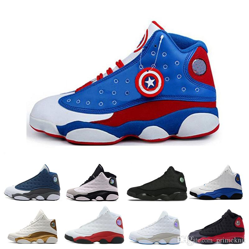 0adc8dd9f83de2 Cheap 2019 High Quality 13 XIII 13s Men Basketball Shoes Women Bred Black  Brown White Hologram Flints Grey Toe Sports Sneakers Size5.5 13 Cool  Basketball ...