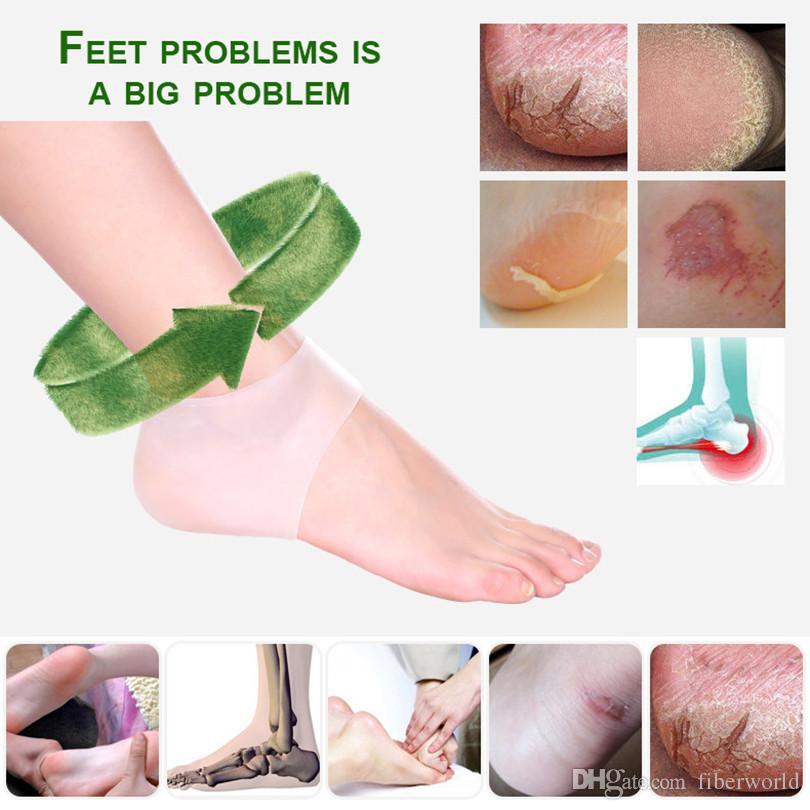 Hot Sale Foot Care Top Fashion Silica Gel Heel Protective Crack Socks Feet Sleeve Heel Repair Pad Health Monitors Massager