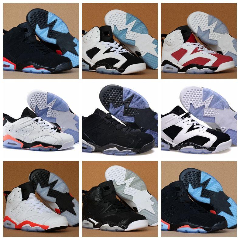 f967b4feb15c9a New 6 Carmine Men Women Basketball Shoes 6s UNC Blue Black Cat White ...