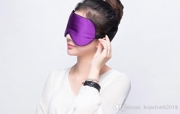 Silk Portable Travel Sleep Eye Mask Rest Aid Soft Cover Eye Patch Hot sale Eyeshade Sleeping Mask