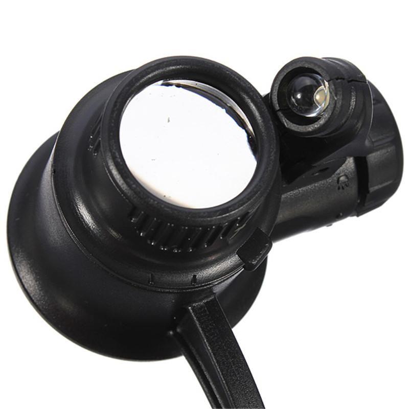Горячий продавать 10x 15x 20x 25x оголовье Single-eye Watch ремонт LED лупы увеличительное лупа часы ремонт инструмента