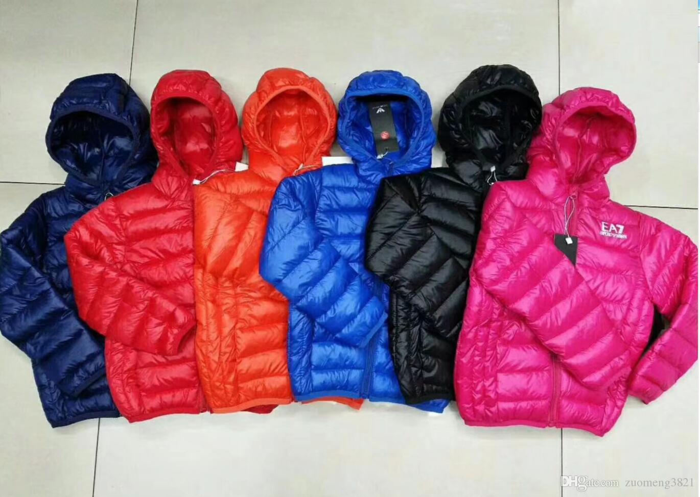 1498a3b9c Winter Jacket Boy Kid Light Duck Down Coat Children Hooded Warm ...