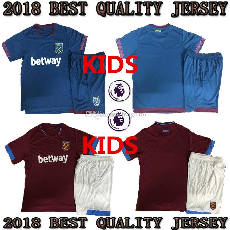 222df9098 2018 2019 West Ham United Kids Jersey Arnautovic Lanzini Snodgrass ...