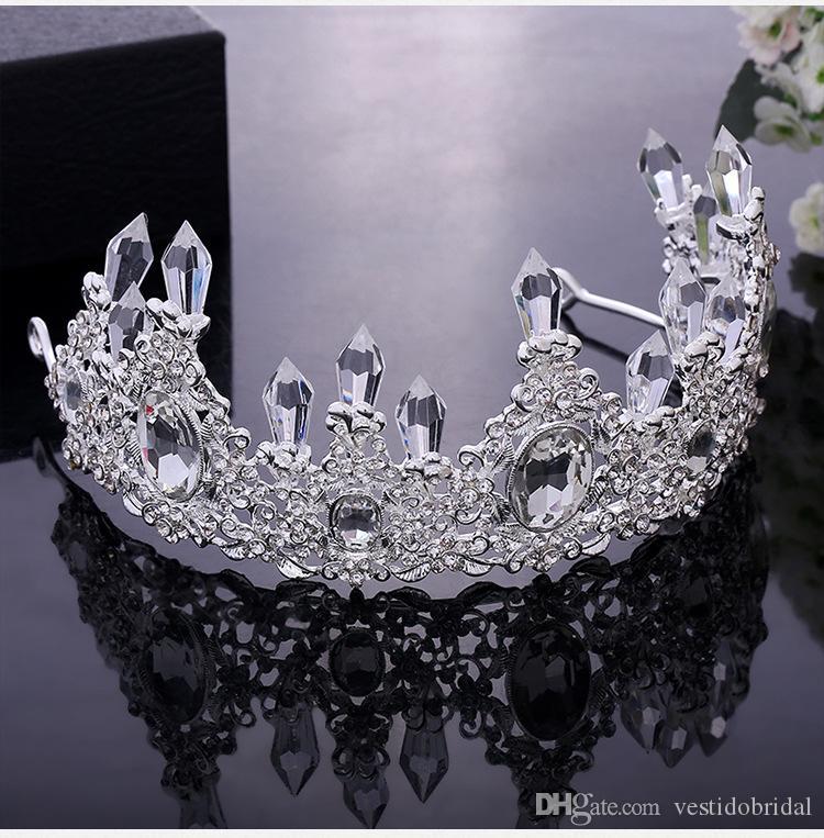 2018 Barato Verão Boho Acessórios Da Jóia Do Casamento Nupcial Coroa Tiaras Acessórios Para o Cabelo Das Mulheres Jwelry Headbands Shinning Cabeça Peças De Ações