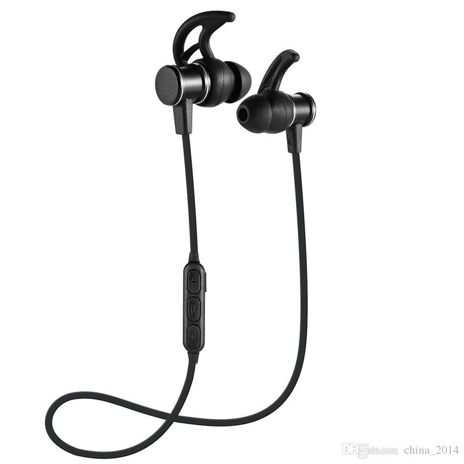 SLS100 stereo senza fili bluetooth 4.1 auricolare sportivo testa magnetica inear cena bass music cuffia archetto cuffia quattro colori con confezione