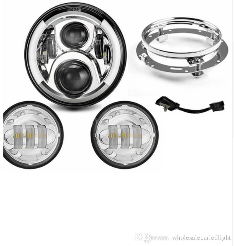 LED Nebelscheinwerfer 4,5 Zoll Zusatzscheinwerfer f/ür Harley Davidson Modelle 2x Motorrad Bike Scheinwerfer Nebel