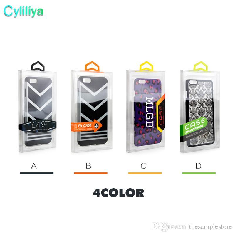 300 adet Moda Blister PVC Plastik Temizle Perakende Ambalaj Özel Logo Ambalaj Kutusu iphone 6 4.7 5.5 Cep Telefonu Kılıfı
