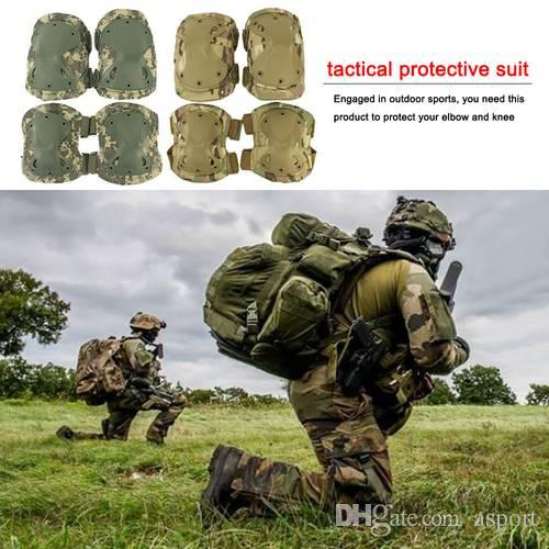 Tactical Knee Pads set Combat Airsoft Paintball Gear Hunting Equipment Elbow Protector Gear Shooting Pads Tactical Protector Gear