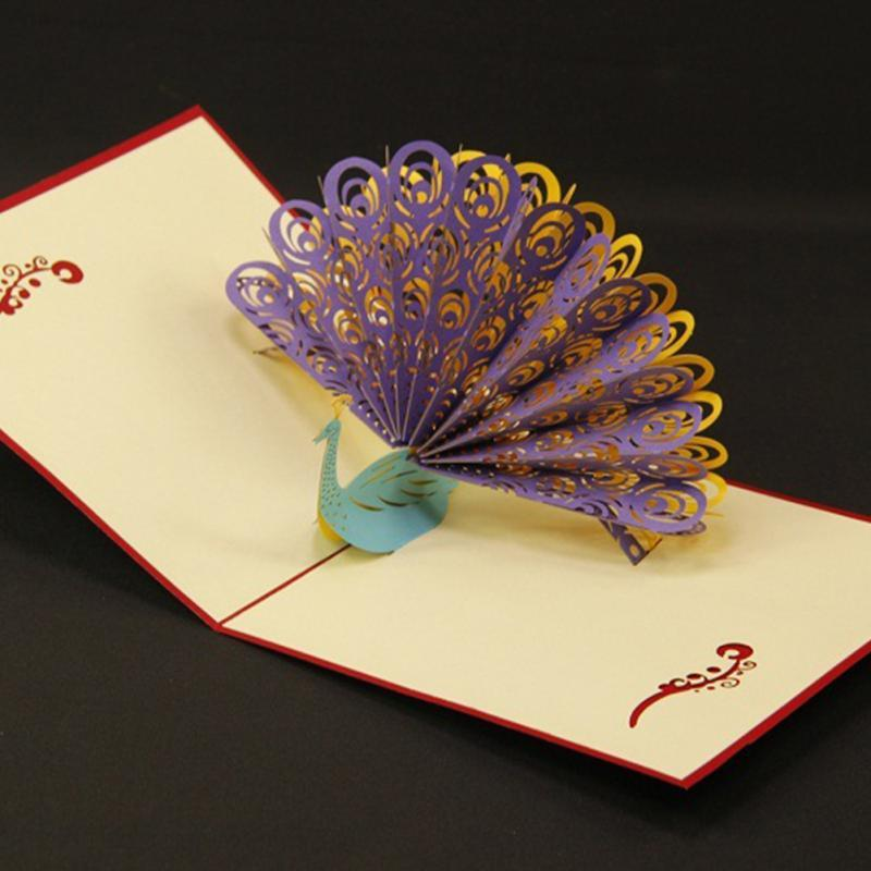 Diy Greeting Card Paper Spiritz Peacock 3d Pop Up Greeting Card