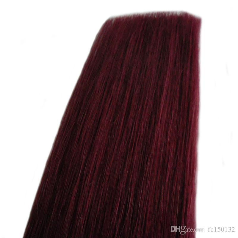 Remy Tape Hair Extensions Tape in Human Hair Extension Straight 16 to 24 Inch Straight Remy Brazilian Hair