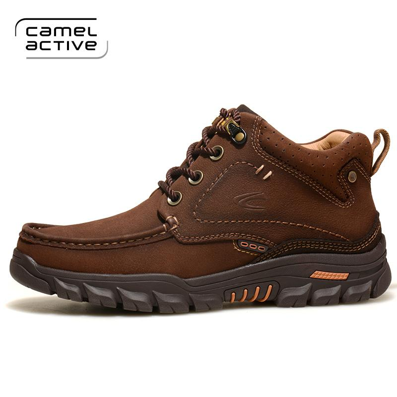 f7caea1462 2019 Camel Active Men Motorcycle Boots Vintage Combat Boot Winter Fur 2018  New Cow Leather Waterproof Lace Up Military Boots A6698 Sneakers Ankle Boots  For ...