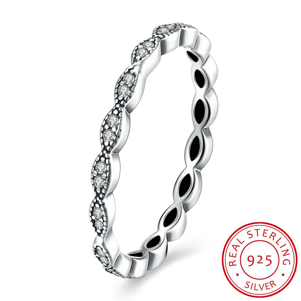 084f2a5fb 2019 Authentic 100% 925 Sterling Silver Love Forever More Stackable Ring  Clear CZ Jewelry Birthday Presents From Uline, $10.08 | DHgate.Com