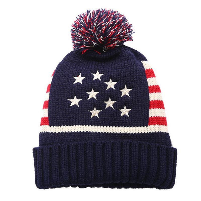 d3879ad0006 2019 American UK Flag Beanie Hat Winter Warm Wool Knitted Caps For Man  Women Skullies Cool Beanies Drop Shipping From Brandun