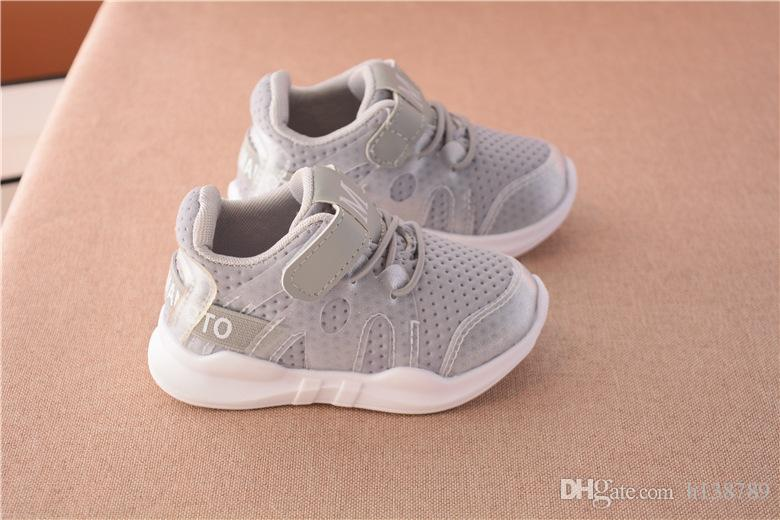 Athletic Kids Shoes New Fashionable Net Breathable Pink Leisure Sports Running Shoes For Girls Summer For Boys Brand Kids Shoes