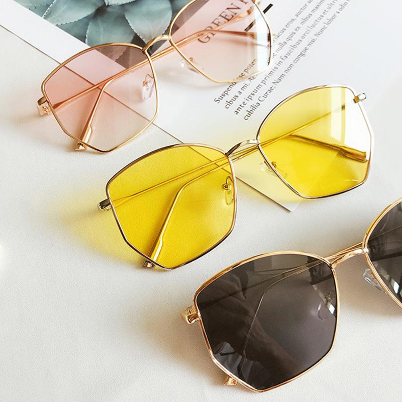 1b2a5b23af2 Yellow Oversized Sunglasses Women Big Frame Square Sun Glasses Brand ...
