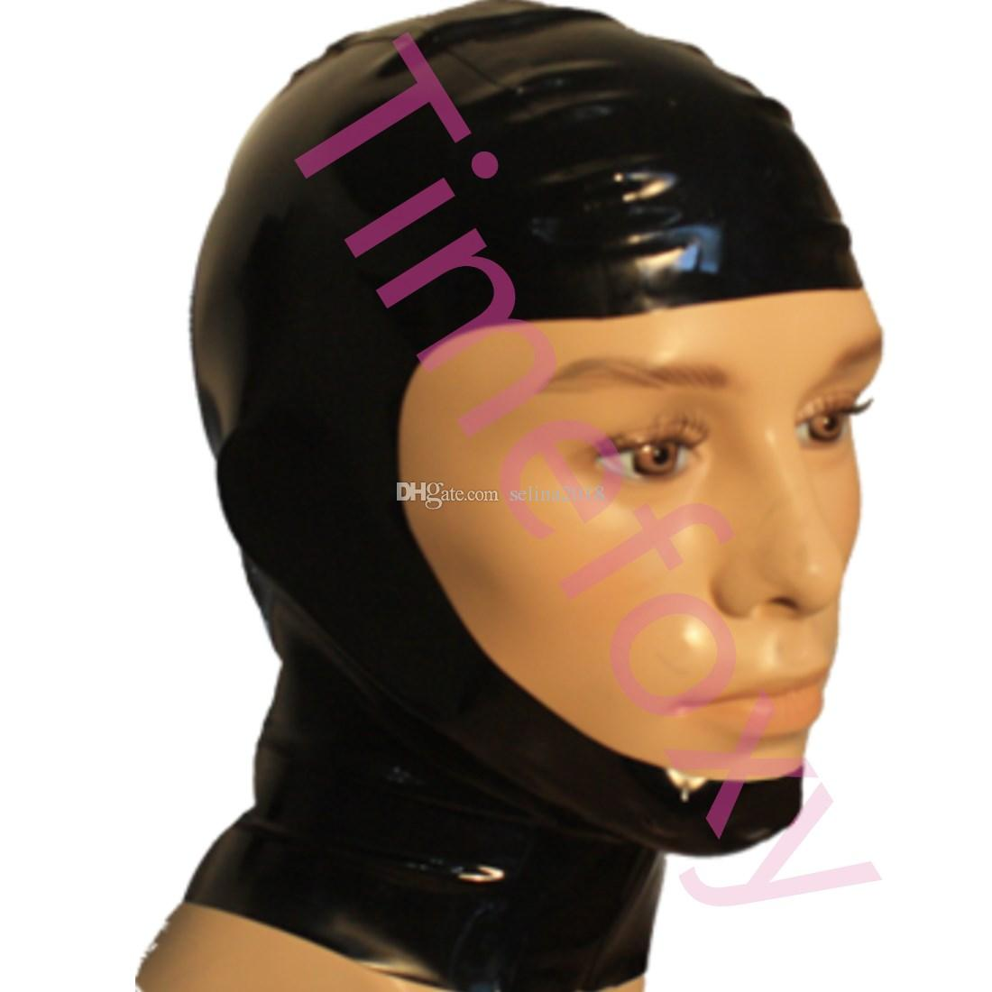 Open face hood mask 100%latex mask Catsuit Party Wear Costumes 0.4mm
