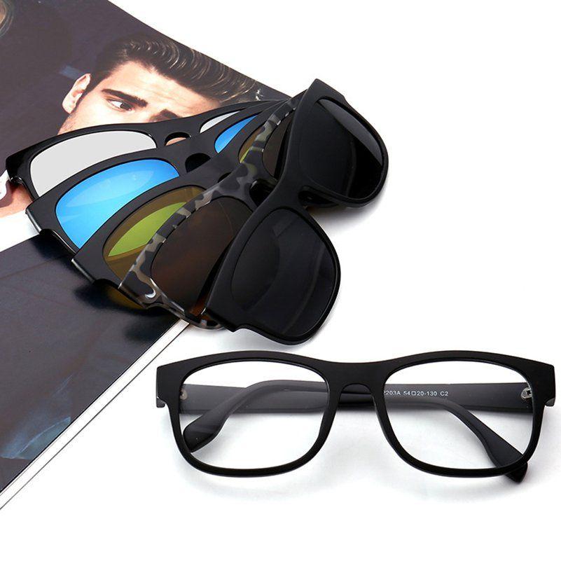 6718249c4e Compre Imixlot Imán Gafas De Sol Con Clip Polarizado Clip En Gafas De Sol  Hombres Mujeres Gafas Magnéticas Marcos De Anteojos Marco De Gafas De  Miopía A ...