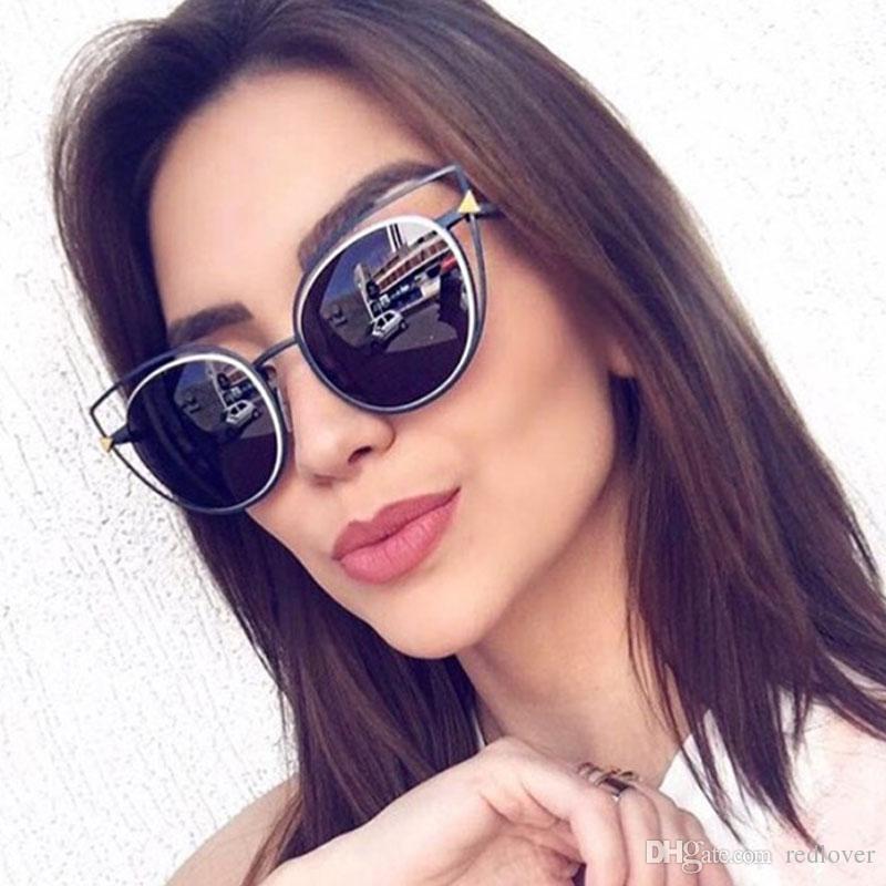 Compre Redlover Moda De Lujo Ojo De Gato Gafas De Sol Diseñador De ...