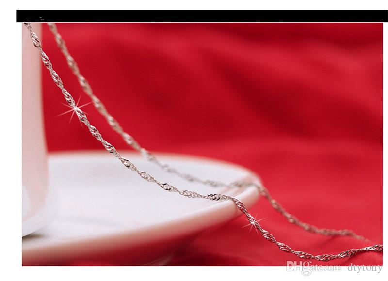 Lowest Price 925 Sterling Silver Chain Necklaces Jewelry TOP Quality 18 inch 925 Sterling Silver Chains Fashion Jewelry