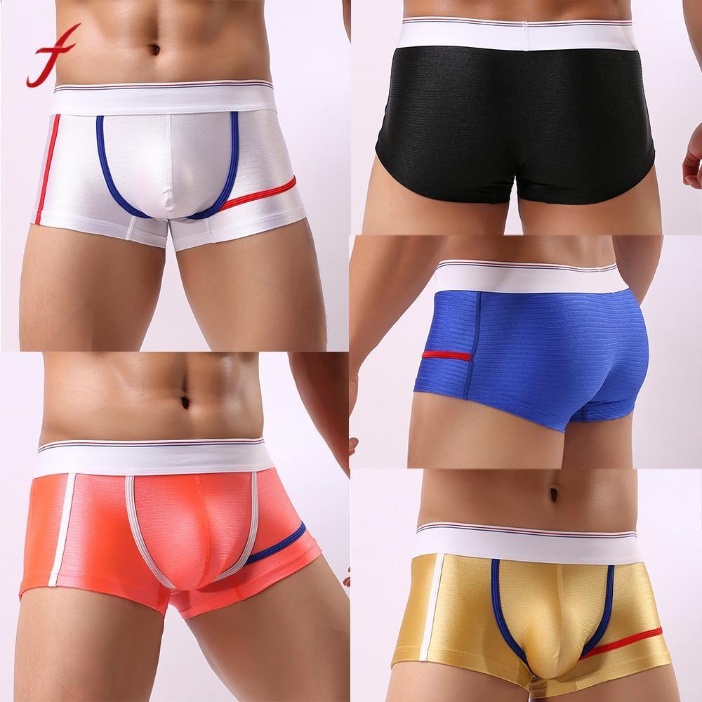 3b59bf8ff261 Hombres calientes de la venta Ropa interior masculina transparente  Boxeadores cortos Bulge Pouch Underpants Female Casual Theung lencería sexy  Hombre