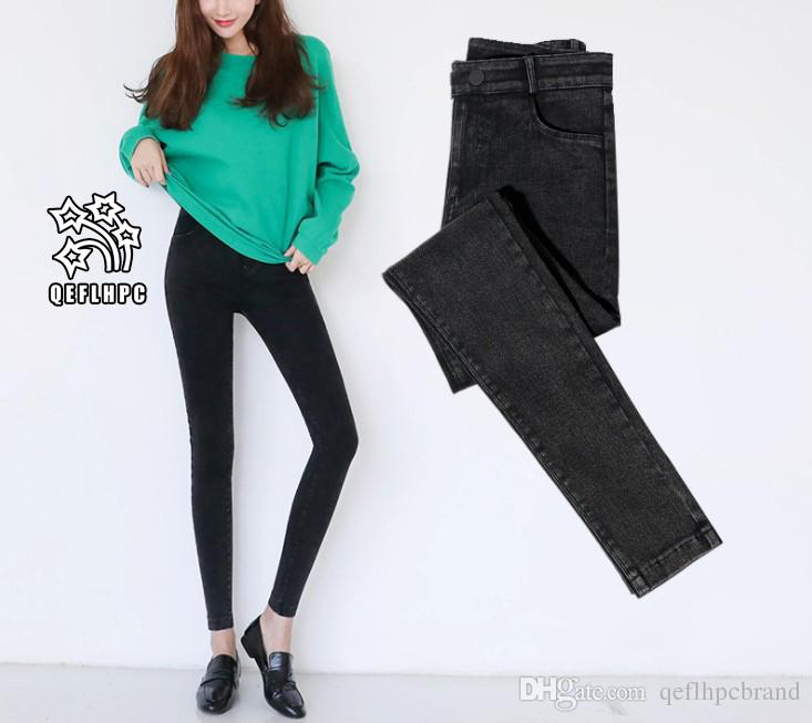 Ladies Sexy Skinny Jeans Women High Waisted Slim Fit Denim Pants Slim Denim  Straight Biker Skinny Ripped Jeans Pencil Pants Trousers A503 Women  Clothing ... 812a60c2b682