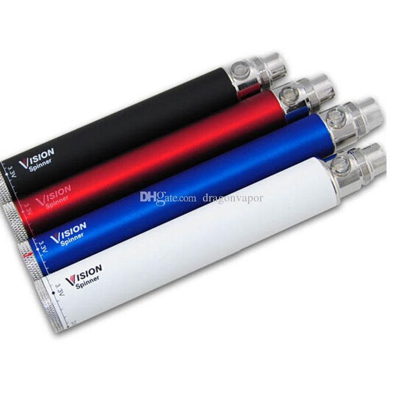 Bateria da torção do girador da visão 1300Mah 1100mah 900mah 650mah Tensão variável 3.3V-4.8V 510 da linha do ego Evod para o vapor eletrônico do cigarro