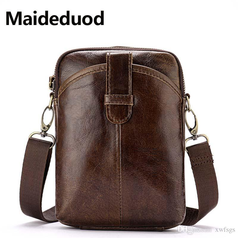 High Quality New Messenger Bag Men S Genuine Leather Bag Vintage Crossbody  Bags Shoulder Bags Man Leather Small Male Satchel Brown 8322 Briefcase For  Men ... bda5cf23519d7