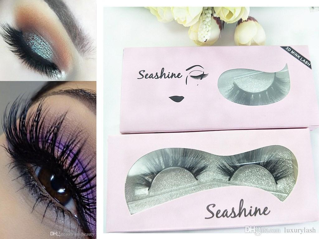 f8be7309eea 2018 Seashine 3D Mink False Eyelashes Handmade Soft Human Hair Black Long  Cross Thick Curl False Eyelashes Extension Pro Fake Eye Lashes Lashes  Eyebrow ...