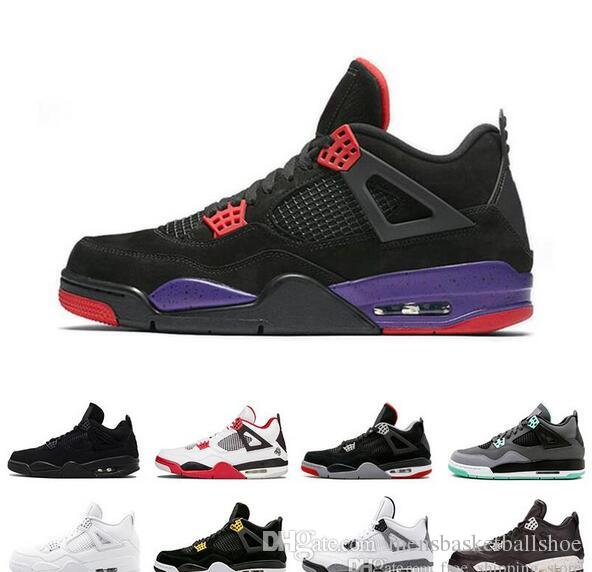 f5443222c391 2019 New 4 Designer 4s Basketball Shoes Raptors Bred Military Blue Fire Red  Bred Mens Trainers Sports Shoe Sneakers Jordans Running Shoes From ...