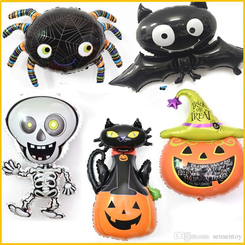 Compre Globos De Papel De Dibujos Animados De Halloween Calabaza ...