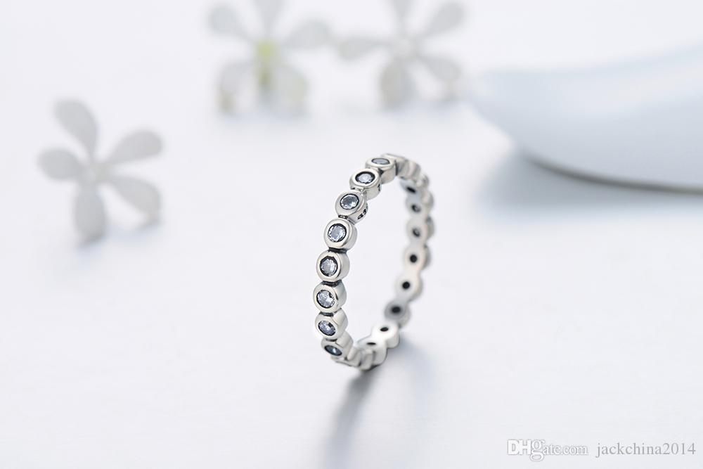 Size 5-10 Top Quality Luxury Original 925 Sterling Silver White Starshine CZ Diamond Finger Ring Authentic Jewelry For Women Wedding Gift