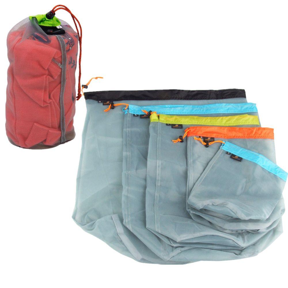 bd78c0c4941d S-XXL Size Portable Tavel Camping Sports Ultralight Mesh Stuff Sack  Drawstring Storage Bag Outdoor Camping Travel Kit Equipment