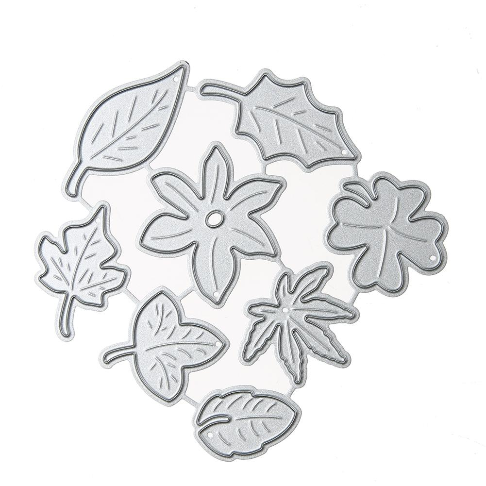 Leaf Combination Craft Metal Paper Card Cutter DIY Decorative Embossing Cutting Dies for Scrapbooking Photo Album Decoration