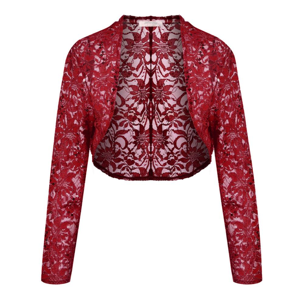 0549639432b 2019 Meaneor Brand Knit Bolero Shrug Women Casual 3 4 Sleeve Lace Floral  Light Crop Open Stitch Cardigan Short All Match Shawl Wrap Y1891103 From  Zhengrui06 ...