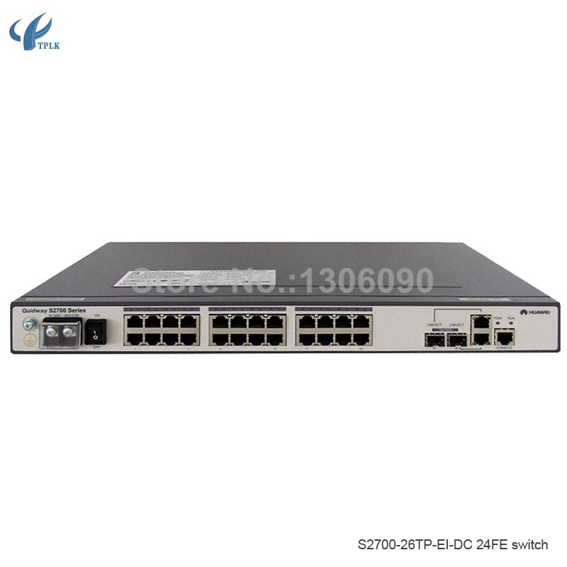 Fiber Optic Equipments S2700-26TP-EI-DC Huawei 24-port 100M network management switch DC power supply