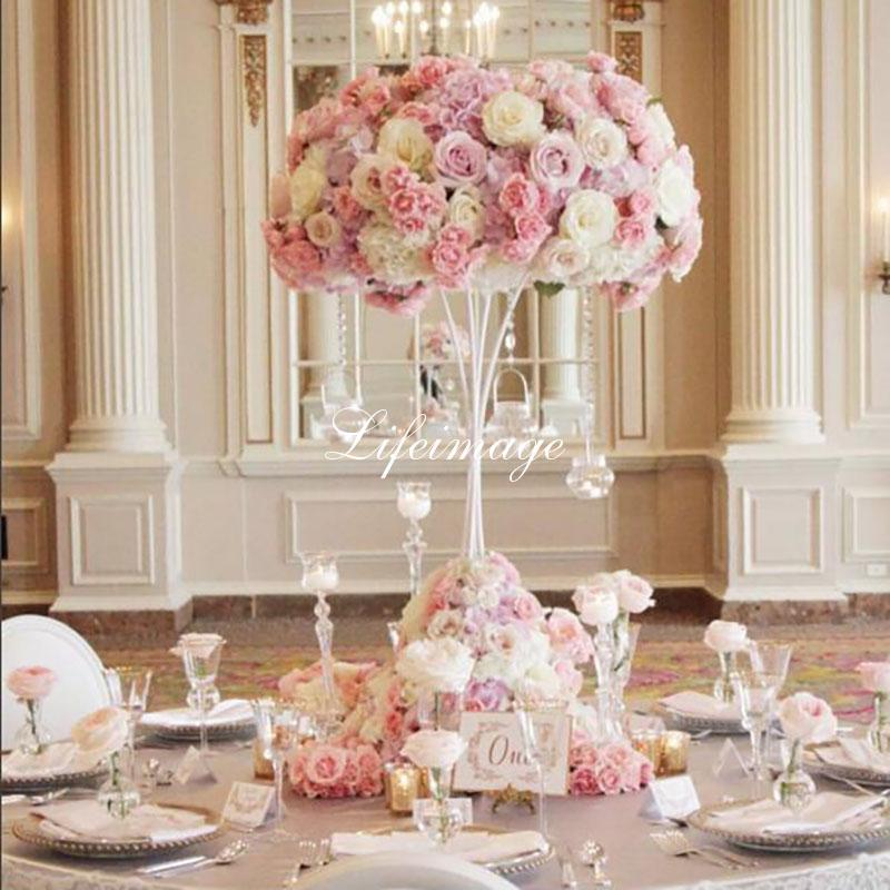 80cm 31 5inch Height Ball Metal Table Decoration Accessories Wedding