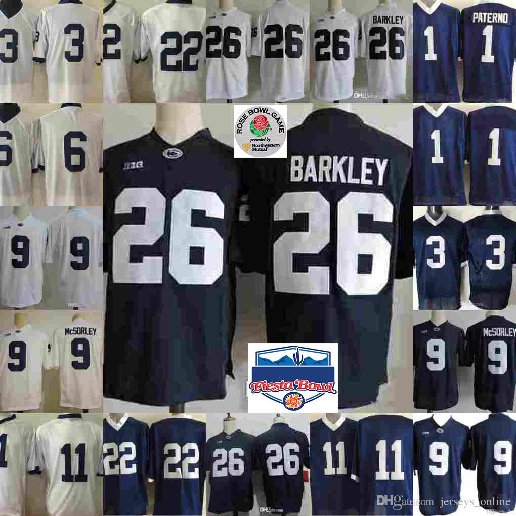 superior quality e6256 f7f16 NCAA Penn State Nittany Lions Saquon Barkley Trace McSorley Marcus Allen  Micah Parsons Akeel Lynch Joe Paterno College Football Jerseys