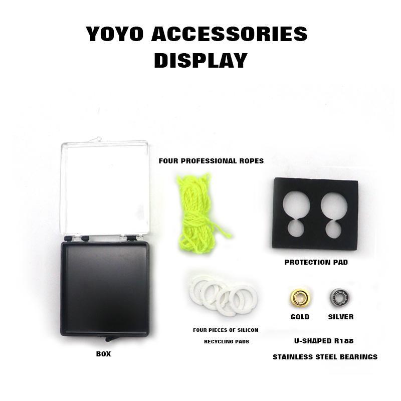 Yoyo ball accessories yoyo bearing /rope/ recycling pads one set for professional yoyo