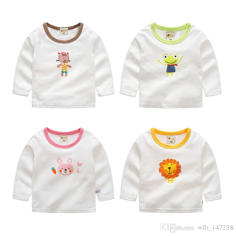 baby kids maternity autumn new childrens sweaters cotton cartoon boys and girls home long sleeved bottoming shirts baby girl christmas pajamas halloween - Maternity Christmas Pajamas