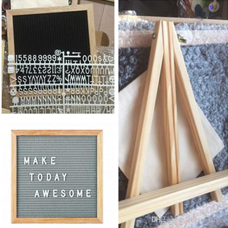 with holder 10x10 black felt letter board with 340 character letters free craft knife coth pouch diy oak wood frame easels message boards online with