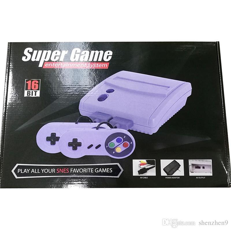 Новое поступление 16 бит супер мини SFC игровая консоль для SNES супер игры бесплатно DHL OTH904
